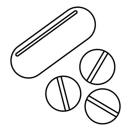 vitamins pills: Vitamins pills icon. Outline illustration of vitamins pills vector icon for web