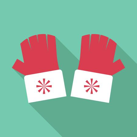 fingerless gloves: Winter fingerless gloves icon. Flat illustration of winter fingerless gloves vector icon for web