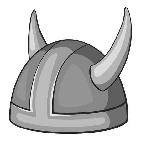 metal monochrome: Metal combat helmet icon. Gray monochrome illustration of metal combat helmet vector icon for web