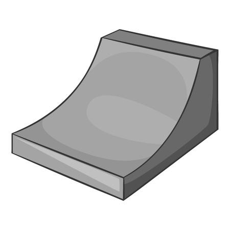 springboard: Icono de trampolín para el snowboard. ilustración en blanco y negro gris del icono de trampolín para el snowboard vectorial para la web