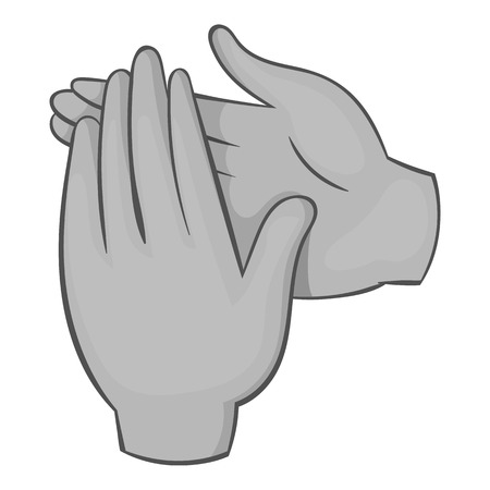 applauding: Applause icon. Gray monochrome illustration of applause vector icon for web