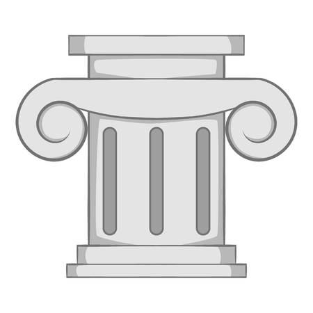 roman column: Roman column icon. Gray monochrome illustration of roman column vector icon for web