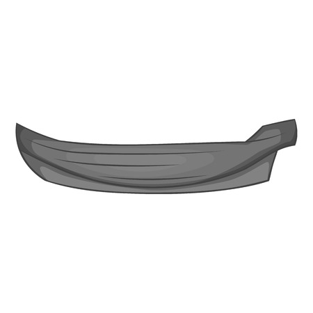 water carrier: Wooden boat icon. Gray monochrome illustration of wooden boat vector icon for web