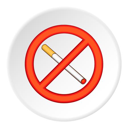 No smoking icon. Flat illustration of no smoking vector icon for web Illustration