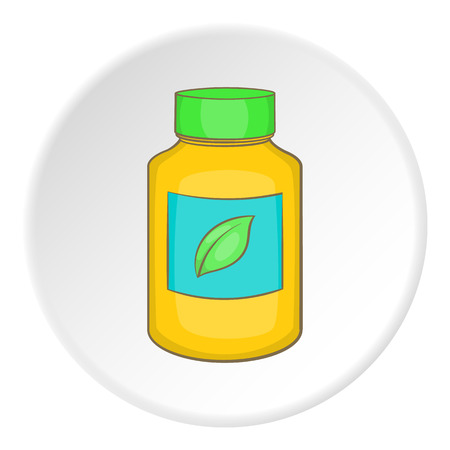 vitamine: Vitamine bottle icon. Flat illustration of vitamine bottle vector icon for web Illustration