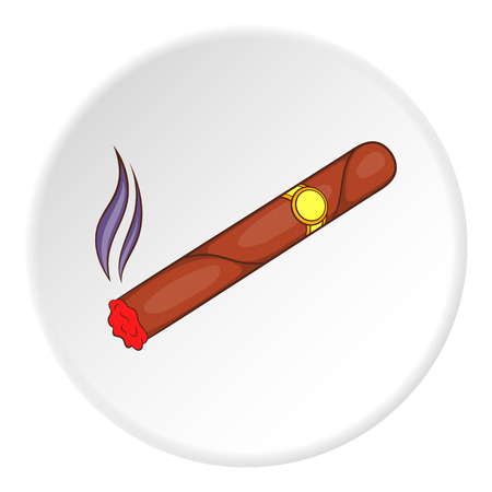 smouldering: Cigar icon. Flat illustration of cigar vector icon for web