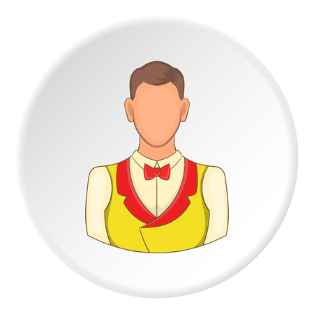 stake: Croupier icon. Flat illustration of croupier vector icon for web
