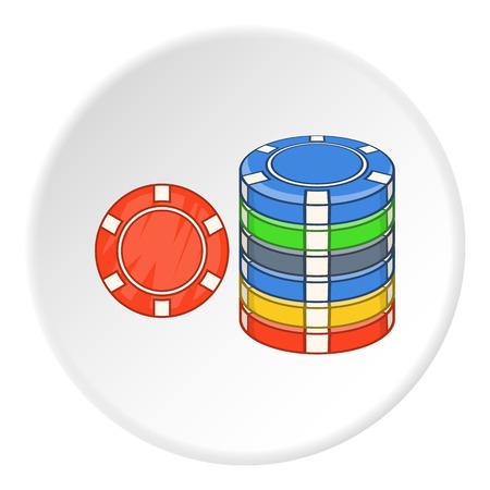 gambling chips: Gambling chips icon. Flat illustration of gambling chips vector icon for web Illustration