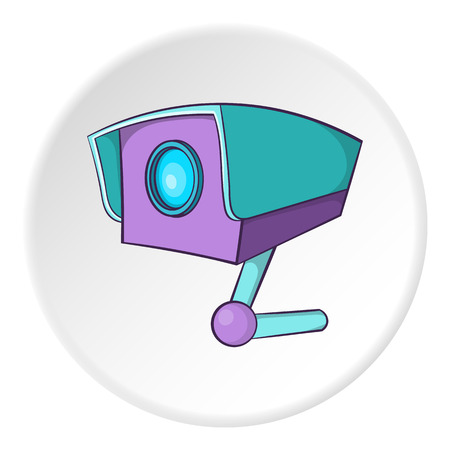 Security camera icon. Cartoon illustration of security cameravector icon for web Illustration