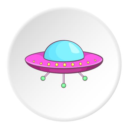 newcomer: UFO icon. Cartoon illustration of UFO vector icon for web