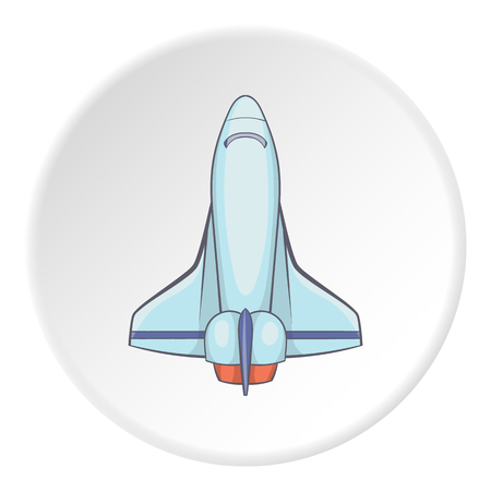 shuttle: Space shuttle icon. Flat illustration of space shuttle vector icon for web