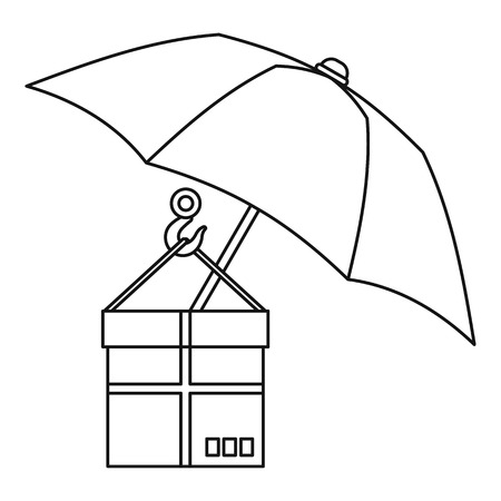 gift accident: Parcel Insurance icon. Outline illustration of parcel Insurance vector icon for web Illustration
