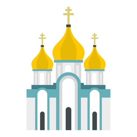 in monastery: Orthodox church icon. Flat illustration of church vector icon for web design Illustration