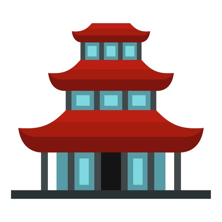 viewpoints: Buddhist temple icon. Flat illustration of buddhist temple vector icon for web design