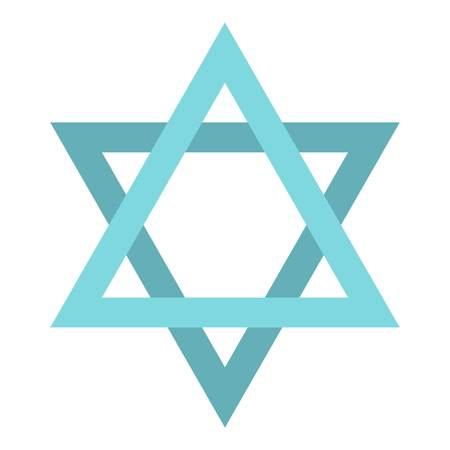 Star of David icon. Flat illustration of star of David vector icon for web design