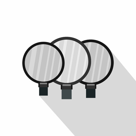 magnified: Magnified lenses icon. Flat illustration of magnified lenses vector icon for web isolated on white background