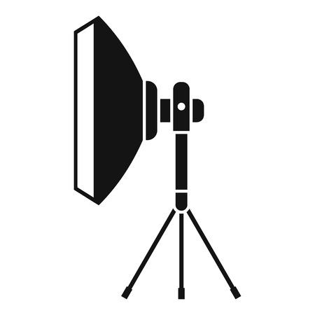 stripbox: Studio lighting equipment icon. Simple illustration of studio lighting equipment vector icon for web