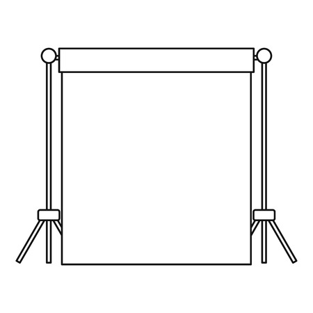 strobe light: Backdrop stand with backdrop icon. Outline illustration of backdrop vector icon for web Illustration