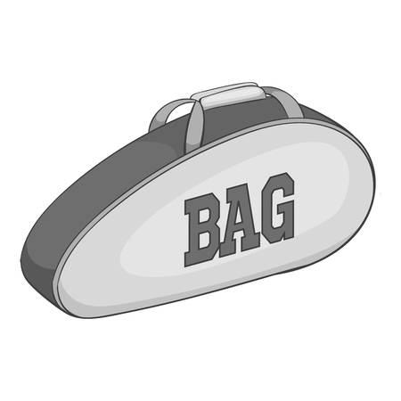 convenient: Tennis bag icon. Gray monochrome illustration of tennis bag vector icon for web