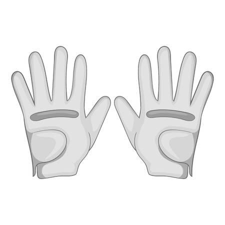 Golf gloves icon. Gray monochrome illustration of golf gloves vector icon for web Illustration