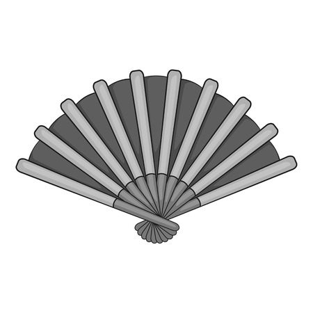 Fan icon. Gray monochrome illustration of fan vector icon for web