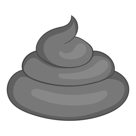 Turd icon. Gray monochrome illustration of turd vector icon for web Illustration