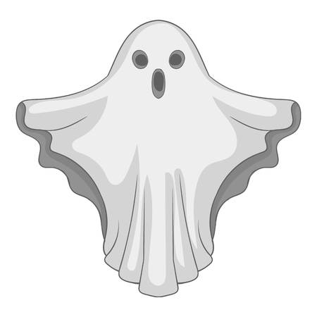 jest: Ghost icon. Gray monochrome illustration of ghost vector icon for web