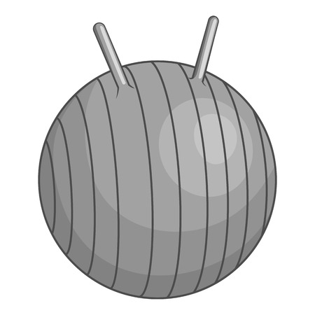 fitball: Fitball icon. Gray monochrome illustration of fitball vector icon for web Illustration