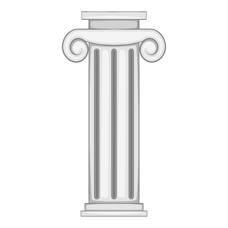 roman pillar: Decorative roman pillar icon. Gray monochrome illustration of decorative roman pillar vector icon for web Illustration
