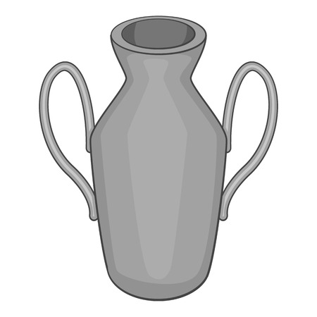 decorative urn: Ancient vase icon. Gray monochrome illustration of ancient vase vector icon for web Illustration