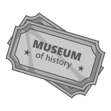 exhibit houses: Sign museum of history icon. Gray monochrome illustration of sign museum of history vector icon for web