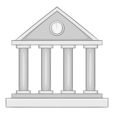 colonnade: Roman colonnade icon. Gray monochrome illustration of roman colonnade vector icon for web