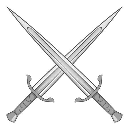 418 crossed swords with a shield stock illustrations, cliparts and