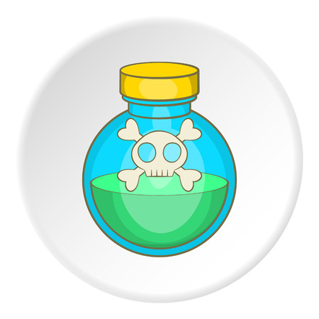 poison bottle: Bottle of poison icon. Cartoon illustration of bottle of poison vector icon for web