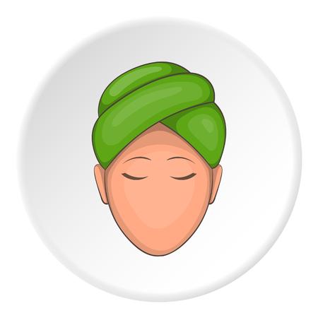 Face of girl on Spa icon. Cartoon illustration of face of girl on Spa vector icon for web