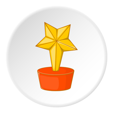 gold cup: Gold cup star icon. Cartoon illustration of gold cup star vector icon for web