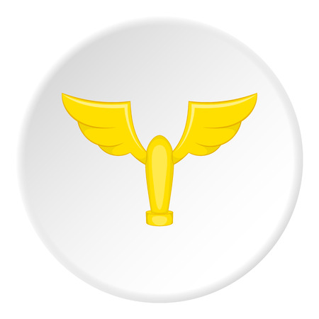 gold cup: Gold cup with wings icon. Cartoon illustration of gold cup with wings vector icon for web Illustration