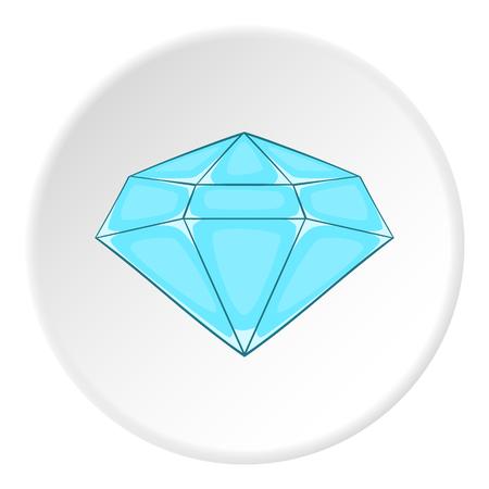 polished: Polished diamond icon. Cartoon illustration of polished diamond vector icon for web Illustration