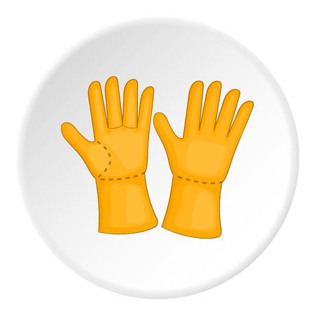 Rubber gloves icon. Cartoon illustration of rubber gloves vector icon for web Illustration
