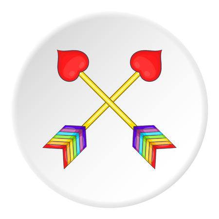 Two arrows LGBT icon. Cartoon illustration of two arrows LGBT vector icon for web Illustration