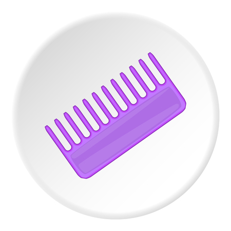 toothed: Toothed comb icon. Cartoon illustration of toothed comb vector icon for web