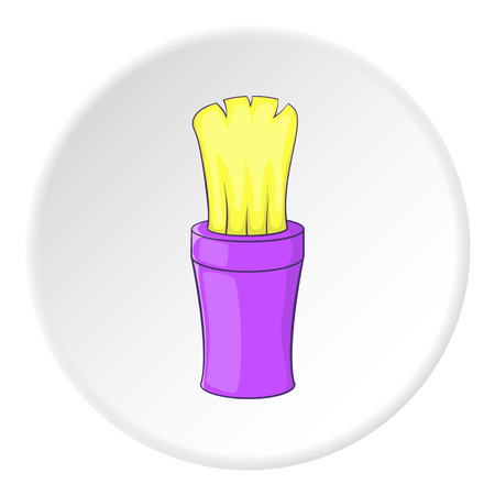 shaving brush: Shaving brush icon. Cartoon illustration of shaving brush vector icon for web Illustration