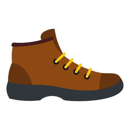 Hiking boot icon. Flat illustration of hiking boot vector icon for web design
