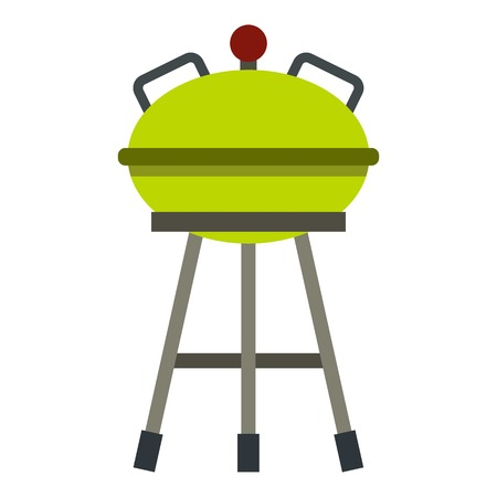 Barbecue grill icon. Flat illustration of barbecue grill vector icon for web design Illustration