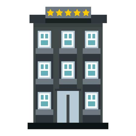 apartment bell: Hotel icon. Flat illustration of hotel vector icon for web design Illustration