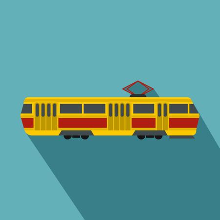 Tram icon. Flat illustration of tram vector icon for web design Illustration