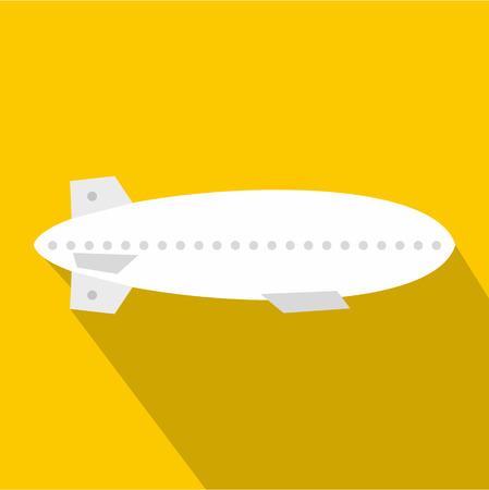 blimp: Dirigible balloon icon. Flat illustration of dirigible vector icon for web design