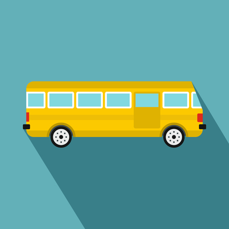 Bus icon. Flat illustration of bus vector icon for web design