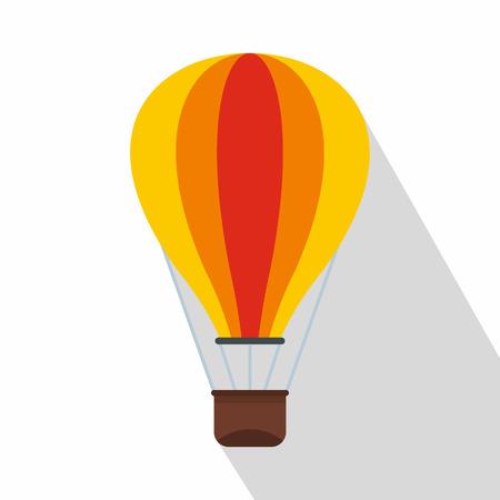 Hot air balloon icon. Flat illustration of baloon vector icon for web design Illustration
