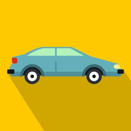 Car icon. Flat illustration of car vector icon for web design Illustration